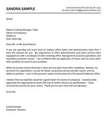 Assistant Cover Letter Exles by Office Assistant Cover Letter Whitneyport Daily