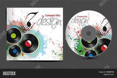 cd cover design template vector cd cover design template with copy space stock