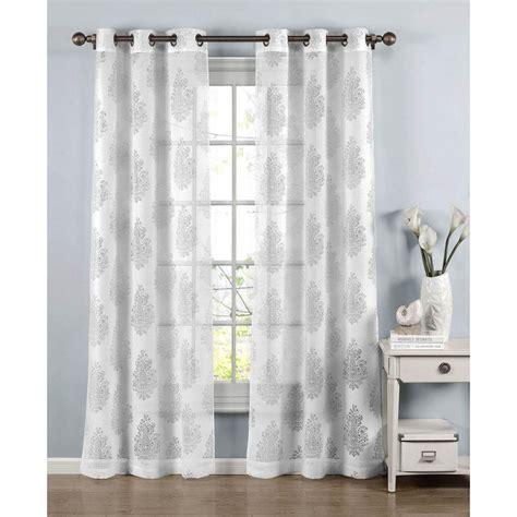 white cotton curtains 84 window elements sheer penelope cotton blend burnout sheer