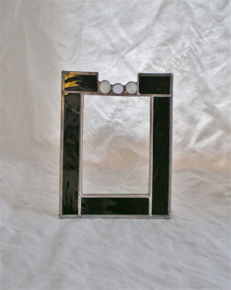 stained glass picture frame black waterglass by katescauldron