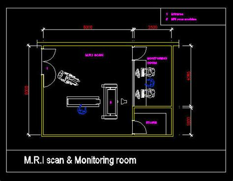 autocad room design cad drawing hospital clinic room m r i scan rooms