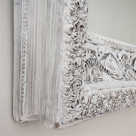 large shabby chic mirror white two metre large shabby chic whitewashed mirror by decorative mirrors