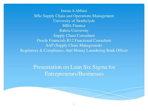 Mba Six Sigma Ppt by Lean Six Sigma For Companies