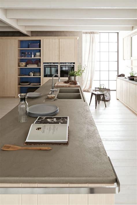 béton ciré plan de travail cuisine salle de bain beton cire et bois