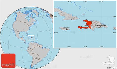 where is haiti on a world map gray location map of haiti
