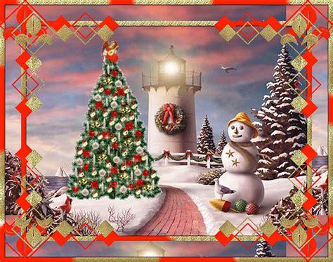 merry christmas lighthouse sceneanimated christmas photo  fanpop