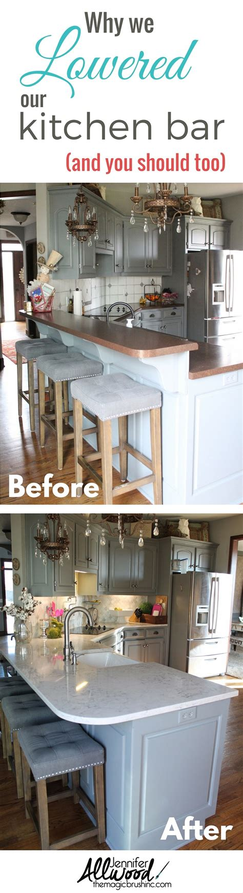 Lowering A Kitchen Bar by Why We Chose Silestone Countertops And To Lower Our