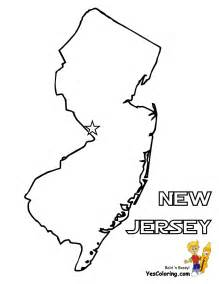 New Jersey State Map Coloring Page Sketch sketch template