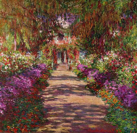 garten monet a pathway in monets garden giverny by claude monet