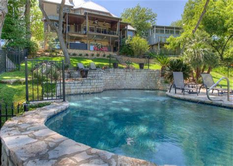 canyon lake cabin rentals with boat dock lake house with two story boat dock hot tub with a view