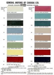 auto paint codes 1964 chevelle exterior paint codes