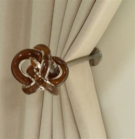 modern curtain tie backs window treatments curtain poles and tie backs