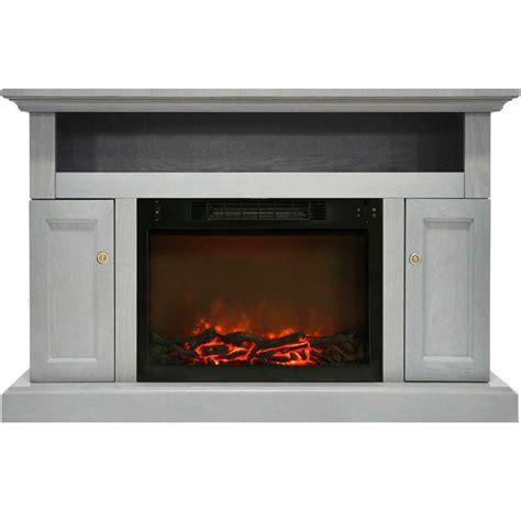 gray fireplace cambridge sorrento electric fireplace with 1500 watt log