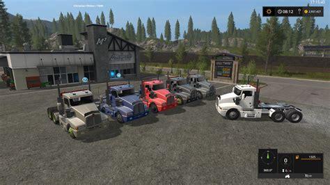 kw semi truck kenworth t600 semi truck v1 1 0 0 fs17 farming simulator