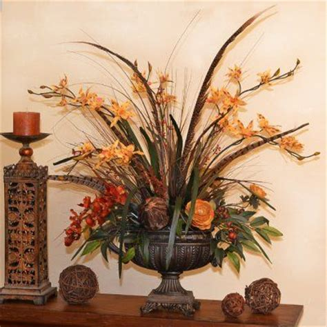 home decor floral arrangements my flower arrangement ideas designer orchids and feather