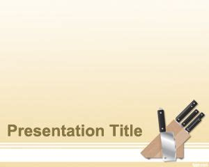 kitchen templates for powerpoint kitchen knife powerpoint template