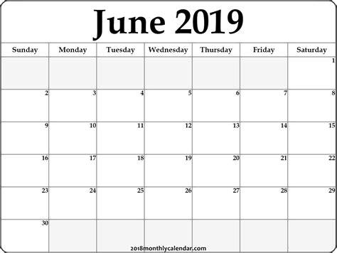 printable june calendar editable decorative