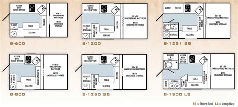 Fleetwood Travel Trailers Floor Plans 2011 palomino bronco folding truck camper floorplans