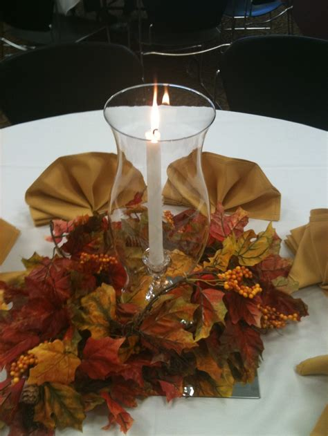 globe centerpiece easy fall table centerpiece with a mirror tile hurricane globe fall leaves and cloth napkins