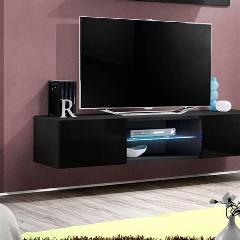 Beau Meuble Tv Suspendu Fly #2: meuble-tv-mural-design-fly-iii-160cm-noir.jpg