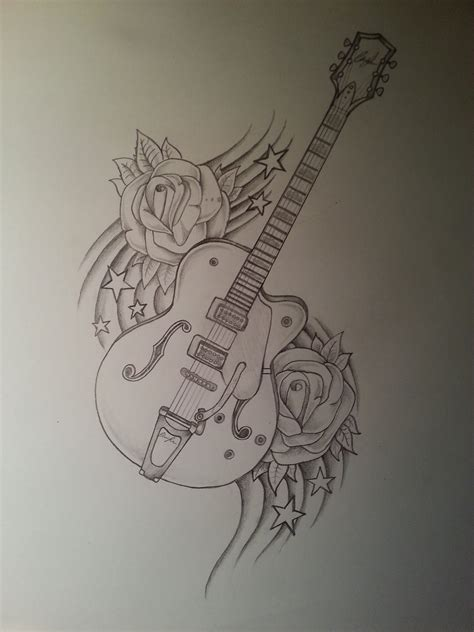 painting tattoos guitar drawing drawings guitar drawing