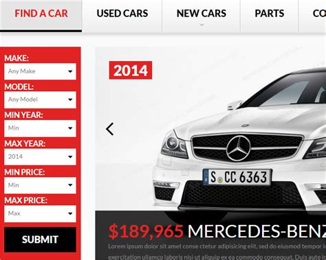 19 Car Dealer Website Themes Templates Free Premium Dealership Website Template