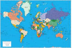 World Map With All Countries by World Map Political With Country Names