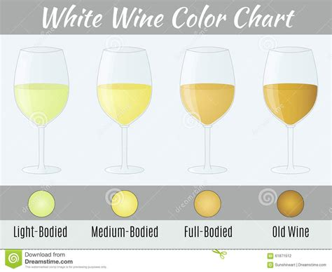 Home Design Plans 3d by White Wine Color Chart Stock Illustration Image 61871512