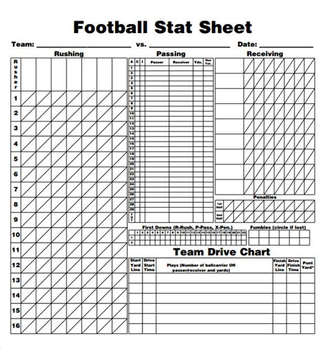 football stat sheet template football score sheet 9 free documents in pdf