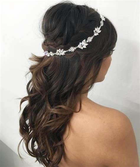 Bridal Hairstyles Half Up With Crown by Half Up Half Wedding Hairstyles 50 Stylish Ideas