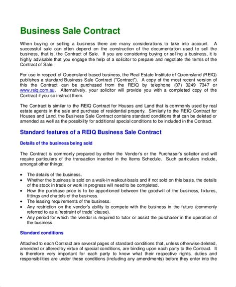 sample sales contract  documents   word