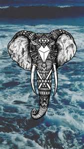 elephant art iphone wallpaper