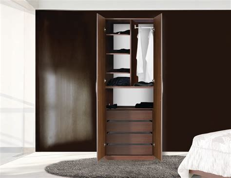 Two Door Wardrobe Closet by Designer Wardrobe Closet W 2 Doors 4 Extension