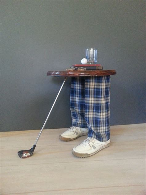 side table accent table vintage whimsical golfer s