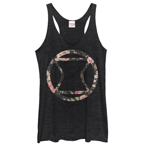 Floral Tank Top black widow floral icon tank top juniors t shirt