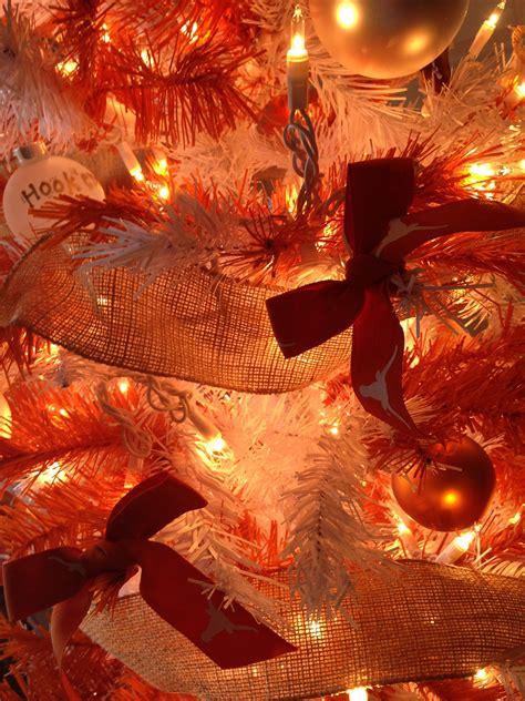 burnt orange holiday xmas decor o burnt orange tree o tree the brinks