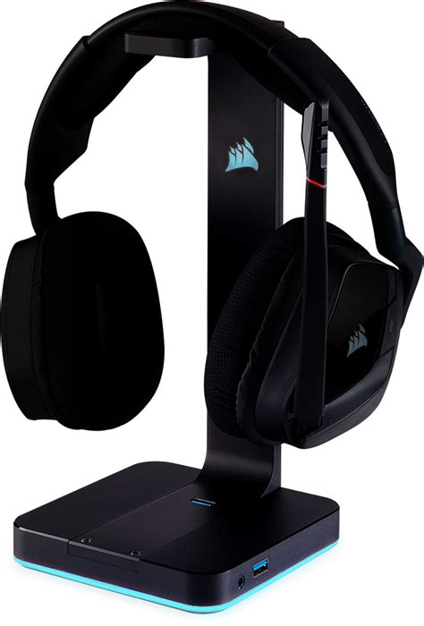 Diskon Corsair St100 Gaming Headset Stand we made a stand for headsets everywhere st100 rgb premium headset stand
