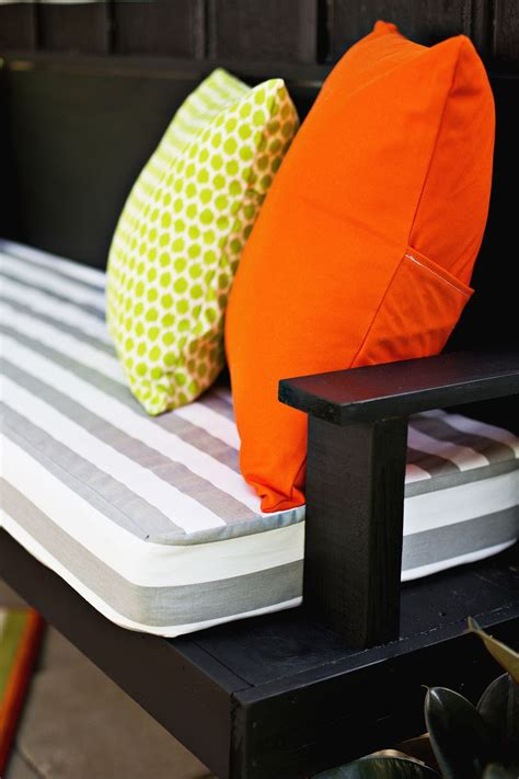 how to make outdoor bench cushions make your own outdoor cushions a beautiful mess