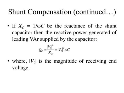 shunt capacitor equation series and shunt capacitor compensation 28 images capacitor bank reactive power compensation