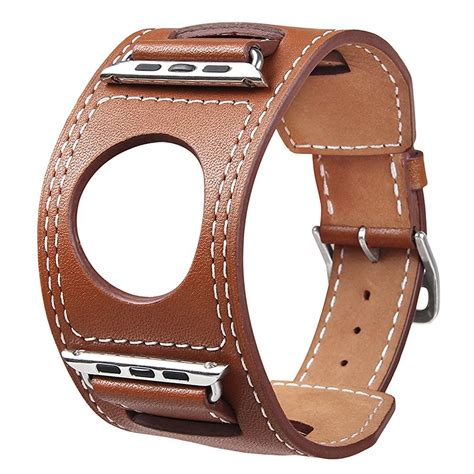 Band For Apple 38 42mm Italian Leather Wrist v moro genuine leather watchbands cuff bracelet leather wrist band for apple 38mm