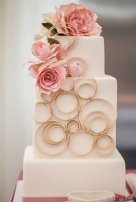 Square Wedding Cake by 53 Square Wedding Cakes That Wow Happywedd