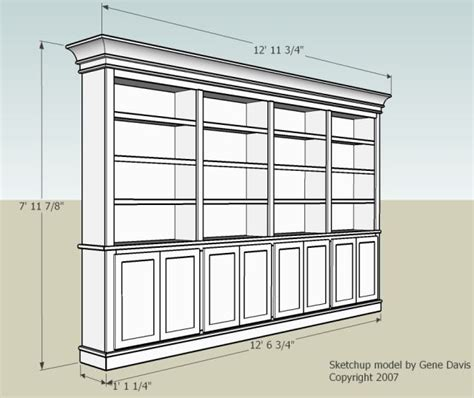 pdf diy built in bookcase plans with doors