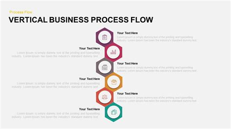 powerpoint template process flow vertical business process flow powerpoint and keynote