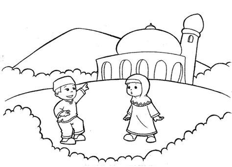 Buku Mewarnai Anak Cars 11 contoh mewarnai gambar masjid sederhana untuk paud tk
