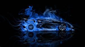Flaming Blue Lamborghini Lamborghini Sesto Elemento Side Violet Abstract Car