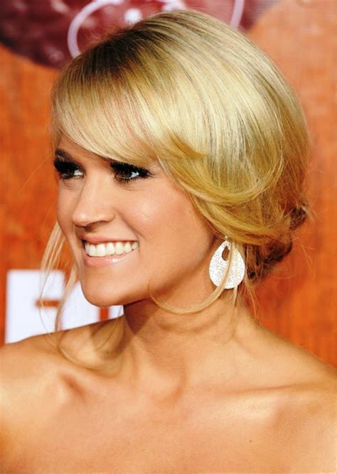 Carrie Underwood Updo Hairstyles by Pictures Of Carrie Underwood Bun Updo