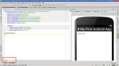 tab layout xml android my first app more than hello world textview and android