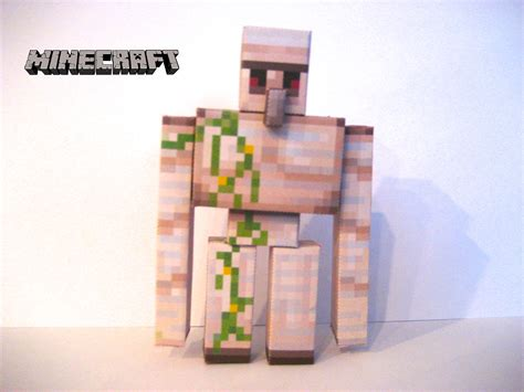 Minecraft Papercraft Iron Golem - minecraft papercraft iron golem by poethetortoise on