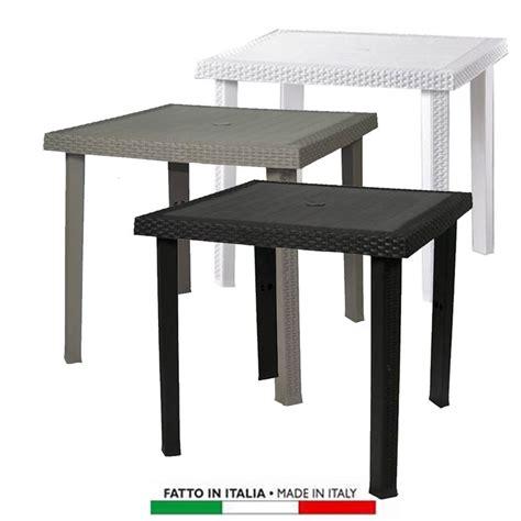 tavolo tortora tavolo figaro rattan quadrato 80x80 colori bianco caffe