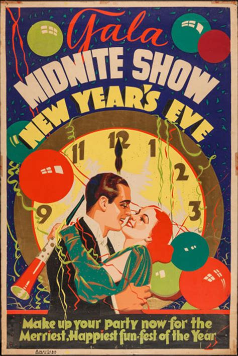 vintage new year poster posters of the month 2013
